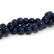 Lapis lazuli kralen 10 mm rond (natuurlijk) (streng)