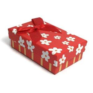 Kartonnen sieraden doosje rood (p/st)