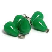 Jade druppel hanger (p/st)
