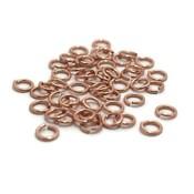 Buigringen rosé goudkleur 5 mm (zakje 50 st)