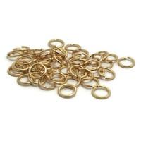 Buigringen goudkleur 7 mm (zakje 50 st)