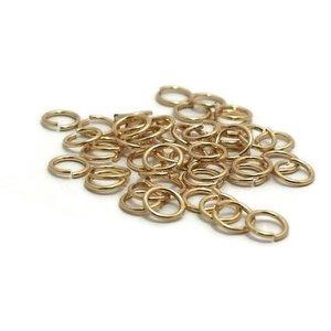 Buigringen goudkleur 6 mm (zakje 50 st)