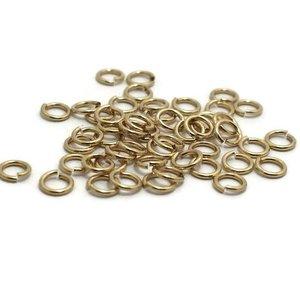 Buigringen goudkleur 5 mm (zakje 50 st)