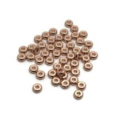 Metalen kralen spacer rosé goudkleur 4x2 mm (zakje 50 st)