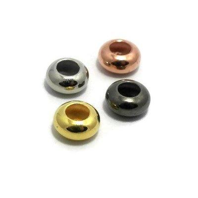 Metalen kralen spacer antiek zilverkleur (p/st)
