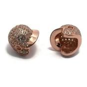 Metalen kralen honkbal helm rosé goudkleur (p/st)