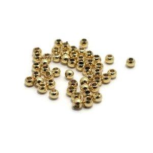 Metalen kralen 2,5 mm rond goudkleur (50 st)