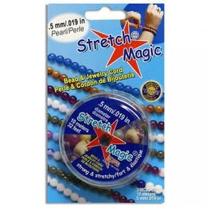Stretch Magic elastiek pearl, diameter 0,5-1,0mm