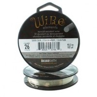 BeadSmith Wire Elements Silver 26 gauge