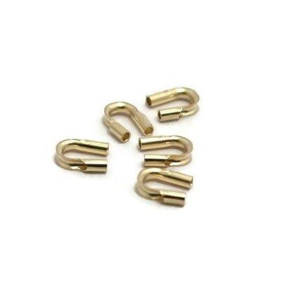 Goldfilled 14kt Draadbeschermer 4x4 mm