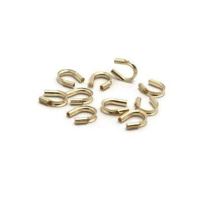 Gold filled draadbeschermer ca. 5 mm (p/st)