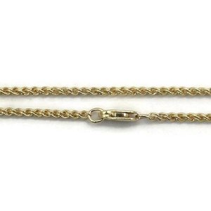 Gold filled ketting 'wheat chain' ca. 50 cm (p/st)