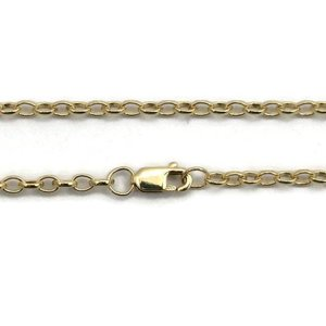 Gold filled ketting 'oval rolo chain' ca. 50 cm (p/st)