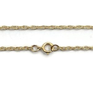 Gold filled ketting 'double rope chain' ca. 50 cm (p/st)