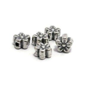 925 zilveren kralen bloem 7x4,5 mm (st)