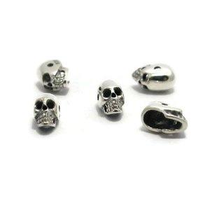 925 zilveren kralen 'skull' 7,5 x 4,2 x 5 mm (st)