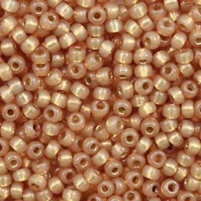 Miyuki rocailles 8/0 duracoat silverlined dyed topaz gold 4243 (tube)