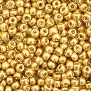Miyuki rocailles 8/0 duracoat galvanized gold 4202 (tube)