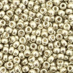 Miyuki rocailles 8/0 duracoat galvanized silver 4201 (tube)