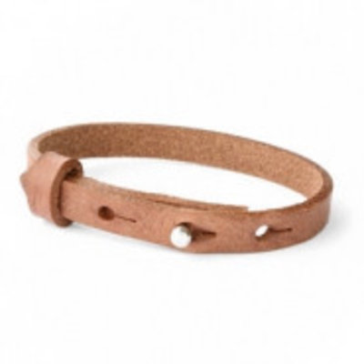 Cuoio armband leer 8 mm auburn brown (p/st)