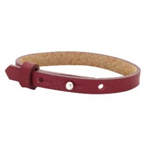 Cuoio armband leer 8 mm tawny port red (p/st)