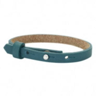 Cuoio armband leer 8 mm night tide green (p/st)