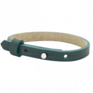 Cuoio armband leer 8 mm forrest green (p/st)
