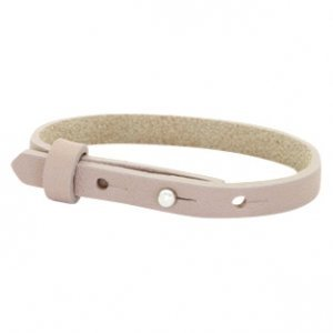 Cuoio armband leer 8 mm rose taupe (p/st)