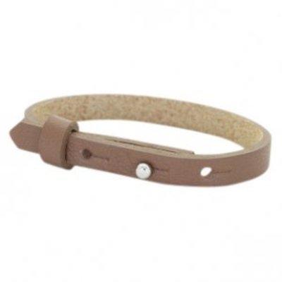 Cuoio armband leer 8 mm medium brown (p/st)