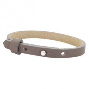 Cuoio armband leer 8 mm deep greige brown (p/st)