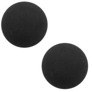Polaris cabochon 12 mm matt black (p/st)
