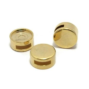 Cuoio schuiver voor 12 mm cabochon goudkleur (p/st)