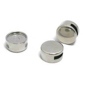 Cuoio schuiver voor 12 mm cabochon zilverkleur (p/st)