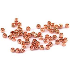 Knijpkralen rosé goudkleur (ca. 100 stuks)