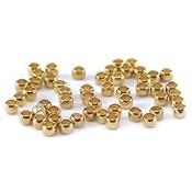 Knijpkralen goudkleur (ca. 100 stuks)