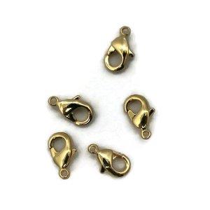 Karabijn sluiting 10 mm goudkleur (p/st)