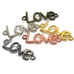 Bedeltjes love 40x15x3 mm mix (5st)
