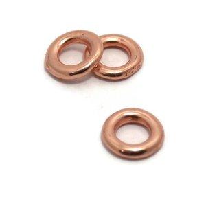 Dichte ring 11 mm rosé goudkleur