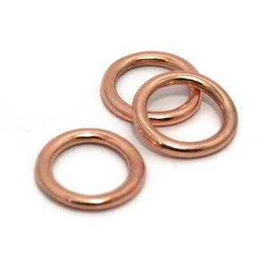 Dichte ring 20 mm rosé goudkleur