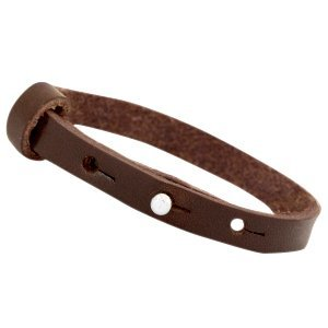 Cuoio armband leer 8 mm dark brown (p/st)