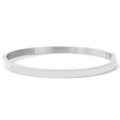 RVS armband zilverkleur (p/st)