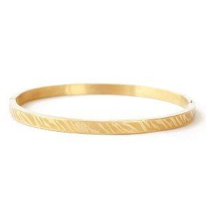 RVS armband goudkleur - zebra print (p/st)