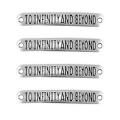 Tussenstuk  quote 'to infinity and beyond' (p/st)
