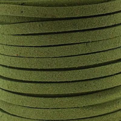 Faux suède Chartreuse (5 meter)