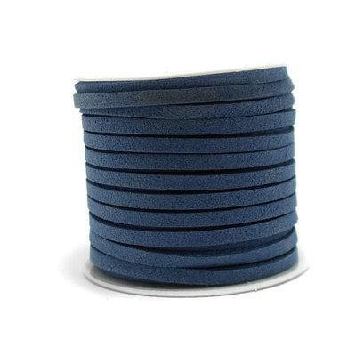 Faux suède Denim Blue (5 meter)