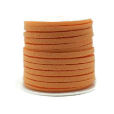 Faux suède Light Orange (5 meter)