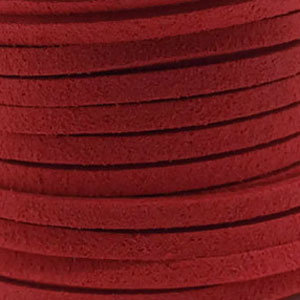 Faux suède Light Red (5 meter)
