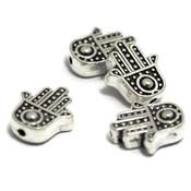 Metalen kralen Hamsa Hand (10 stuks)