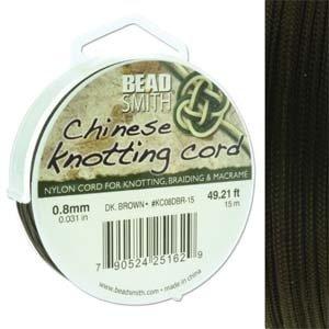 BeadSmith Chinese Knotting Cord Dark Brown  0,8 mm