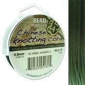BeadSmith Chinese Knotting Cord Dark Green   0,8 mm